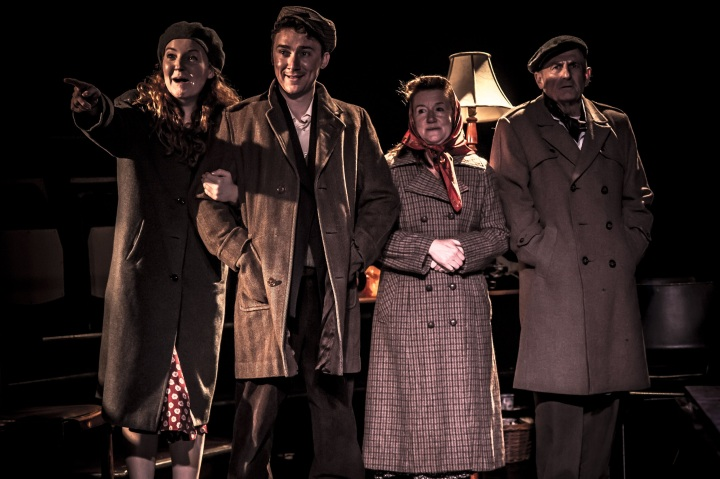 On Behalf of the People - full company (l-r) Lizzie Frain (Liz), Danny Mellor (Tom), Kate Wood (Connie), Ray Ashcroft (George). Credit Tom Jackson
